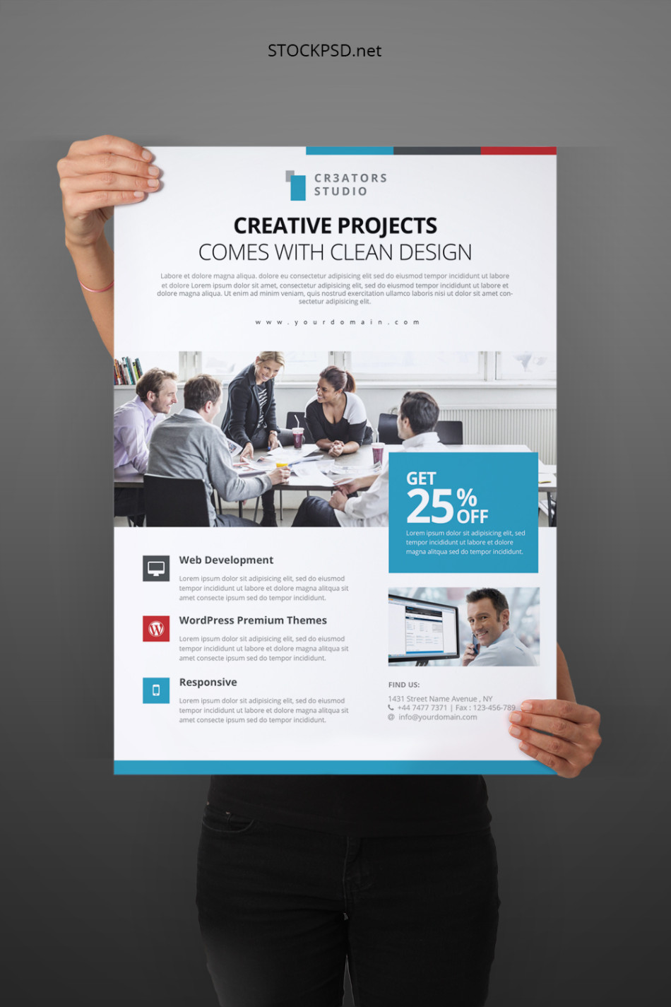 Stockpsd freebie templates modern business flyer free psd modern business flyer free psd template accmission Images