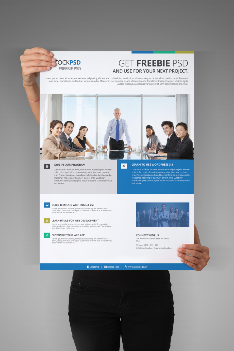 corporate flyer free psd flyer template stockpsd