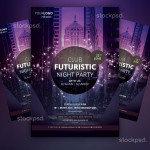 Club Futuristic – Free PSD Flyer Party Template