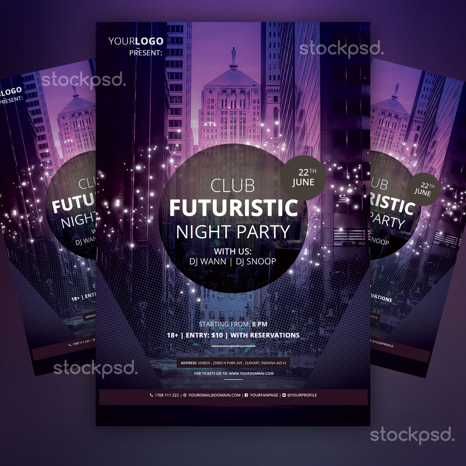 free club flyer templates - free psd flyers brochures and more club