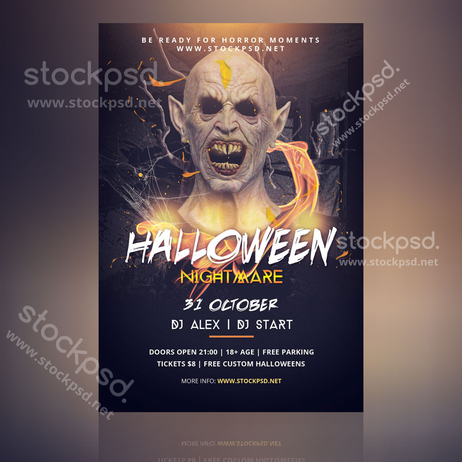 Halloween Nightmare Free Psd Flyer Stockpsd