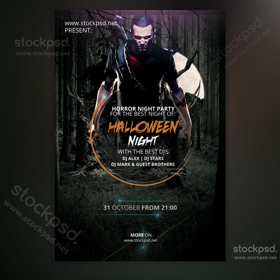 Halloween Night - FREE Minimal PSD Flyer - Stockpsd.net