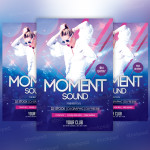 Moment Sound – Freebie PSD Party Flyer
