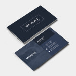 Elegant Dark Business Card – Freebie PSD