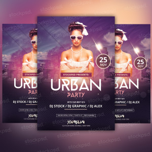 Urban Party – Freebie PSD Flyer