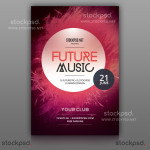 Future Music – FREE Minimal PSD Flyer
