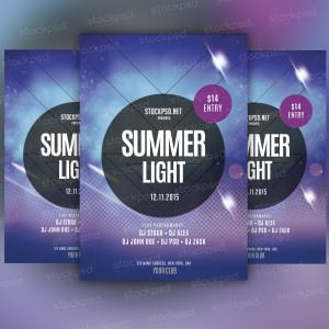 Summer Light – Freebie PSD Flyer