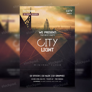 City Light – Freebie PSD Party Flyer