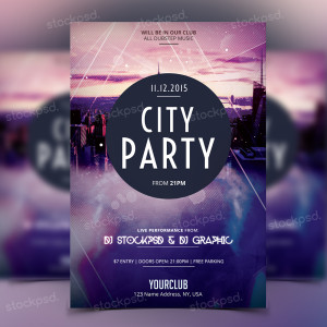 City Party – PSD Flyer Freebie