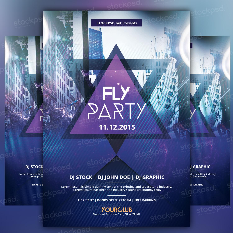 Fly Party – PSD Freebie Flyer