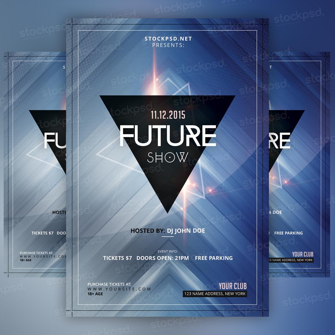 Future Show – PSD Minimal Freebie Flyer