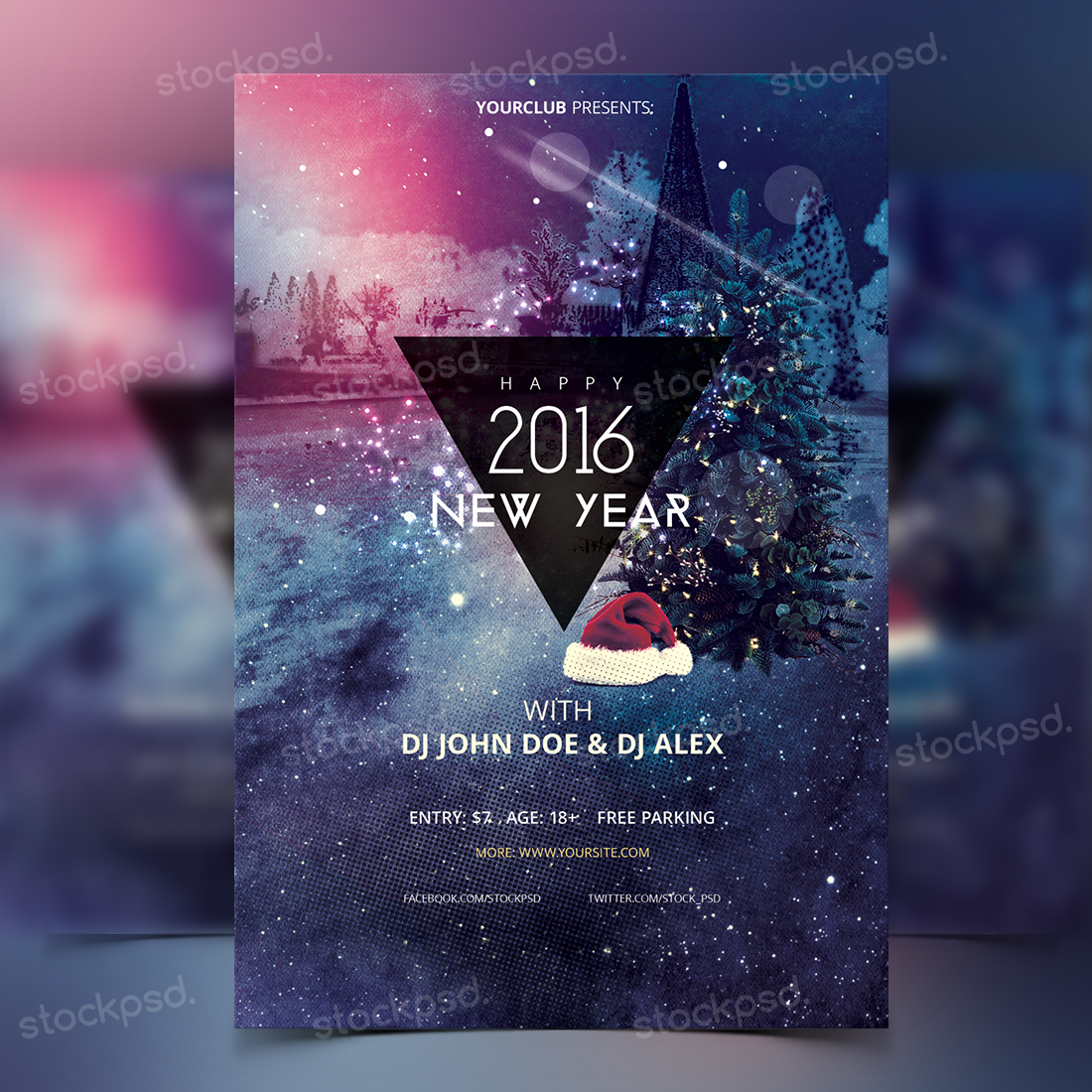 Happy New Year 2016 – Freebie PSD Flyer