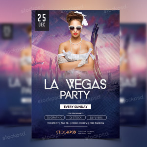 La Vegas Party – PSD Flyer Freebie