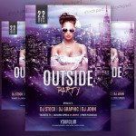 Outside Party – Freebie PSD Flyer