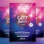 City Party – Free PSD Flyer