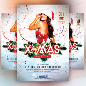 X-Mas Party 2016 – Freebie PSD Flyer