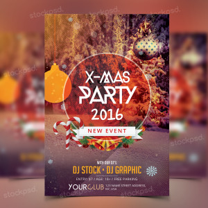 X-Mas Party 2016 – PSD Freebie Flyer