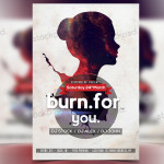 Burn for You – Freebie PSD Flyer