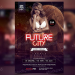 Future City – PSD Freebie Party Flyer