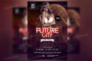Future City – PSD Freebie Party Flyer