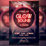 Glow Sound – PSD Freebie Flyer