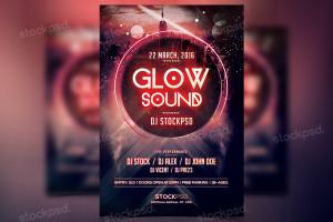 Glow Sound – PSD Freebie Flyer
