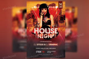 House Night – FREE PSD Flyer