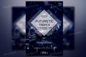 Futuristic Trance – PSD Freebie Flyer
