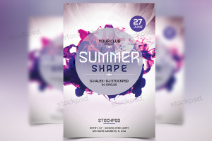 Summer Shapes – FREEBIE PSD Flyer