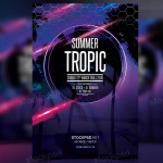 Summer Tropic – FREE PSD Flyer