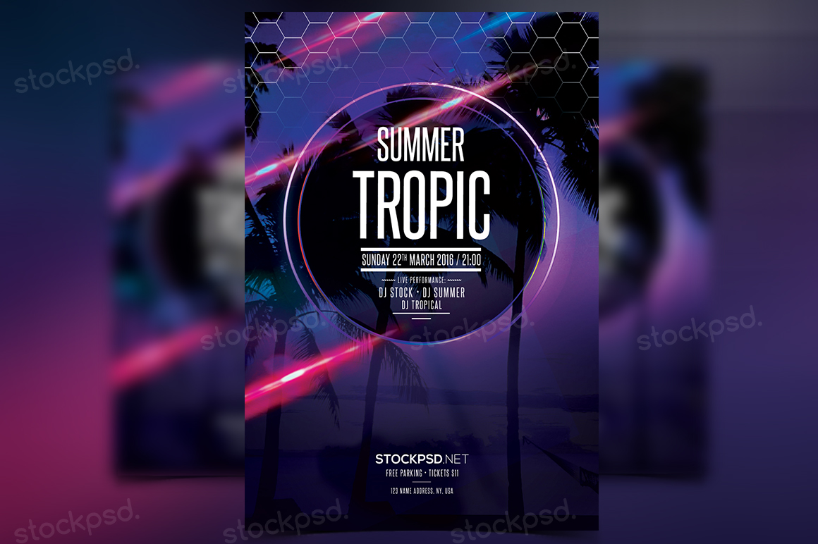 Summer Tropic – FREE PSD Flyer