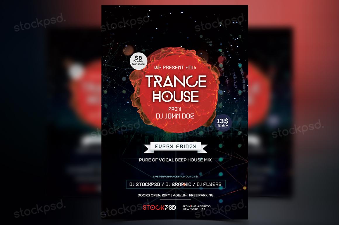 Trance House – PSD Freebie Flyer
