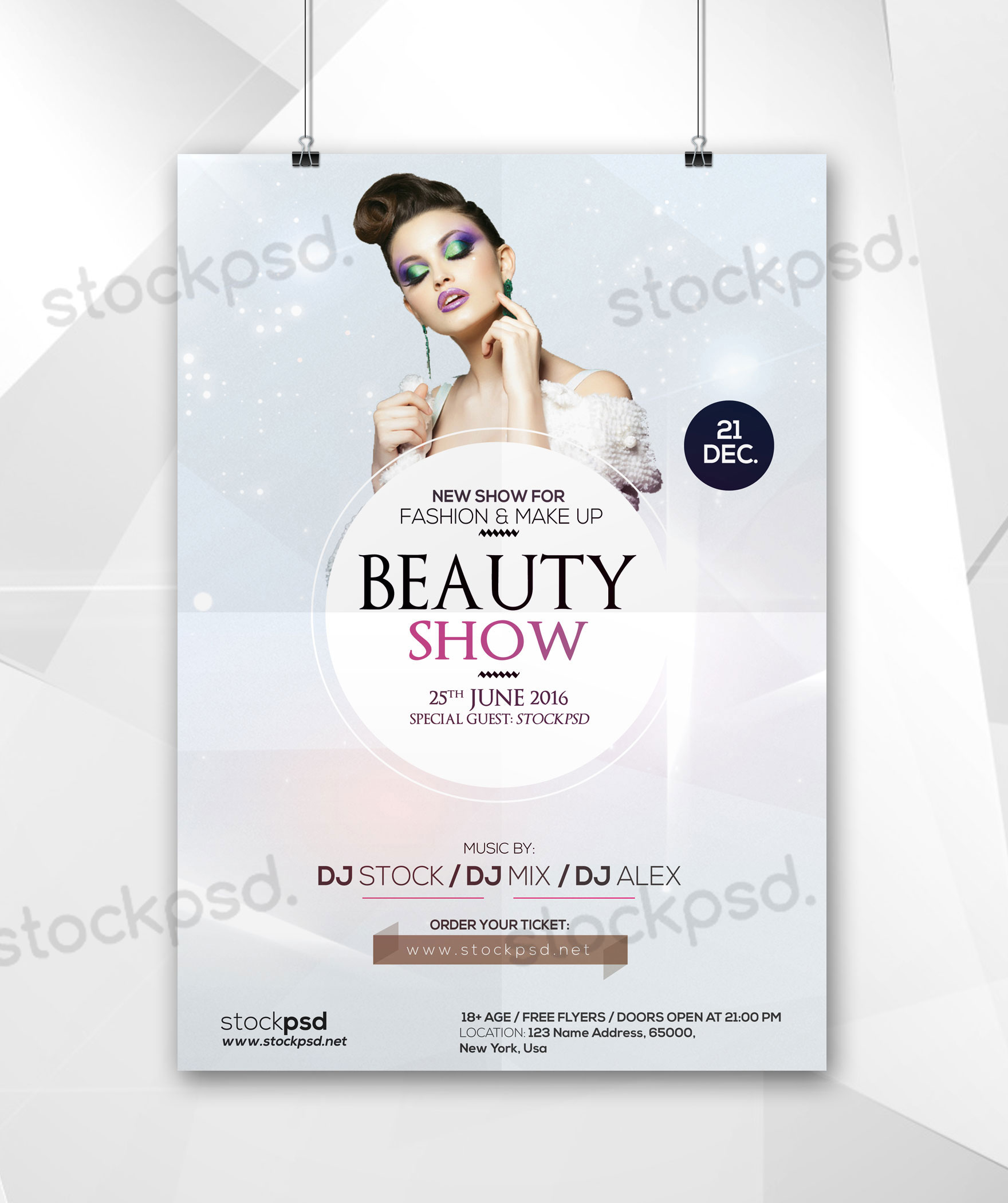Beauty Show – Free Minimal PSD Flyer