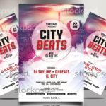 City Beats – Free PSD Flyer Template