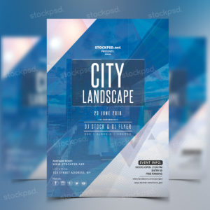 City Landscape – Free Party PSD Flyer