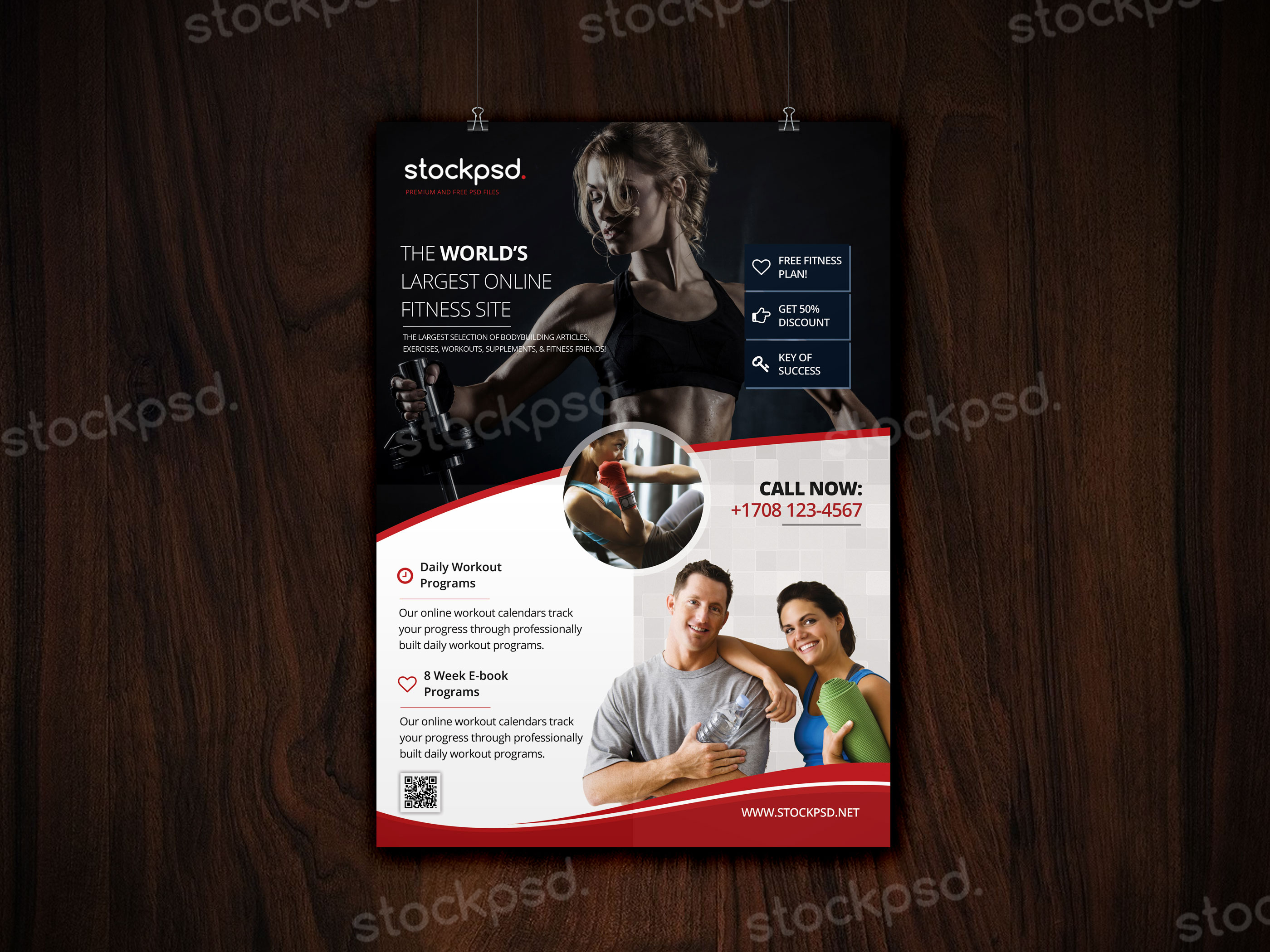 fitness gym freebie psd flyer template stockpsd