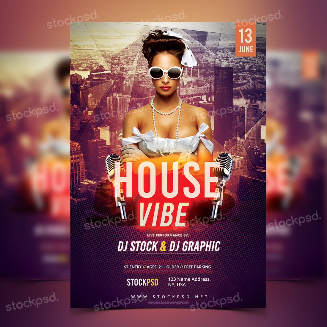 house vibe free psd flyer template - Free Psd Flyer Templates