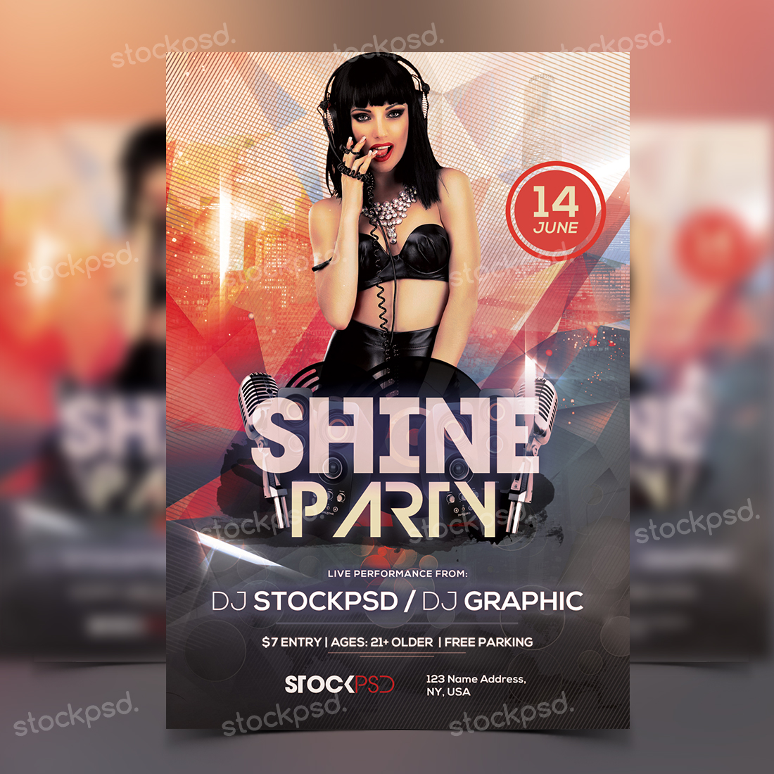 Shine Party – FREE PSD Flyer Template