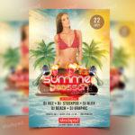 Summer Season – PSD Free Flyer Template