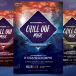 Chillout Music – Free PSD Flyer Template