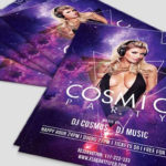 Cosmic Party - Free PSD Flyer Template