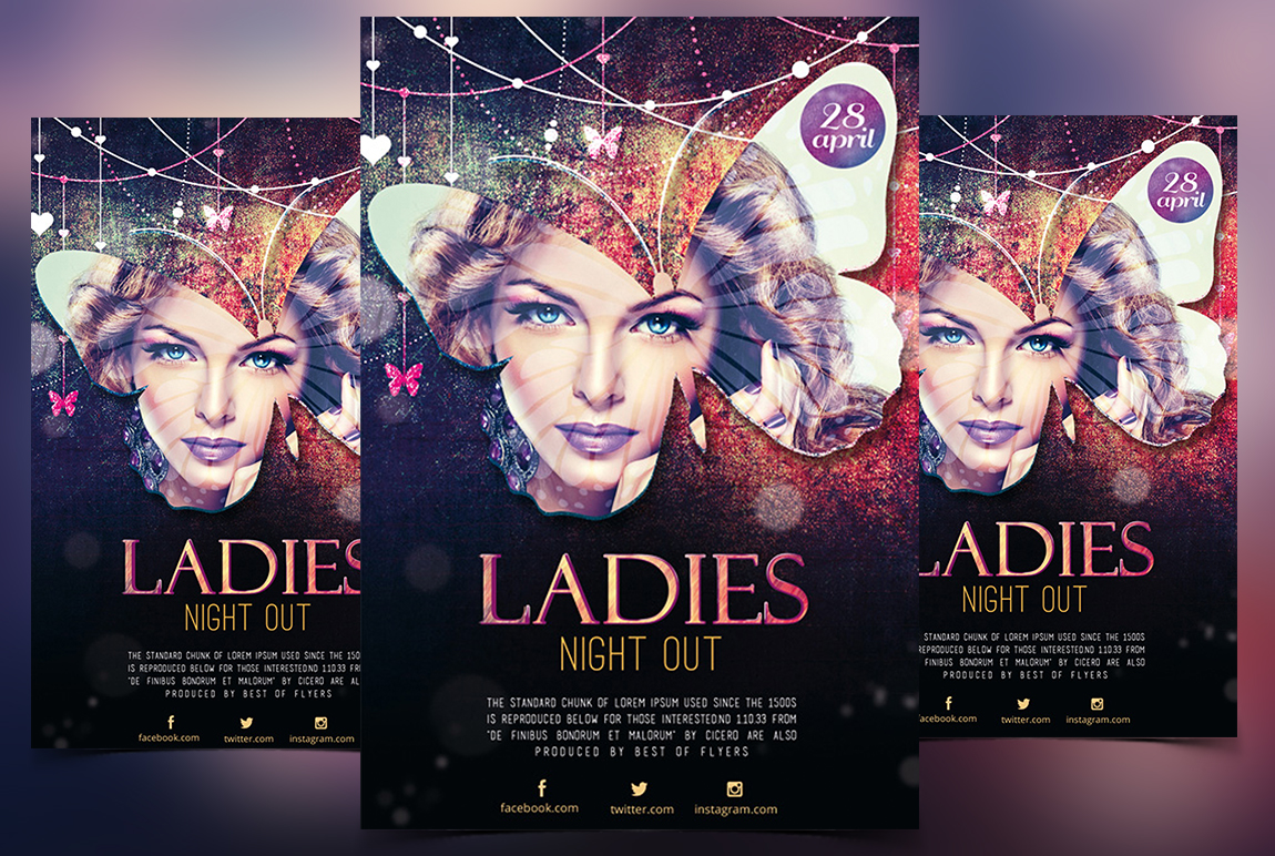 LADIES NIGHT OUT – FREE PSD FLYER TEMPLATE