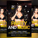Party and Music - Free PSD Flyer Template