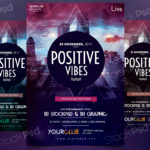 Positive Vibes - Free PSD Flyer Template
