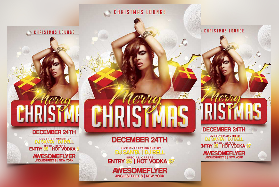 Merry Xmas 2017 Free Psd Flyer Template Stockpsd