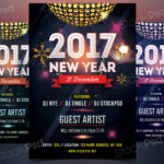 2017 NEW YEAR - FREE PSD FLYER Template
