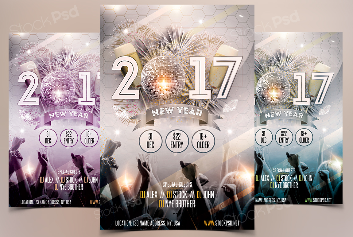 a new flyer template to use for your next celebration of the end of 2016 year 2017 nye is free psd flyer template in a