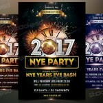 2017 NYE Vol.4 - Download Free PSD Flyer Template