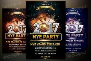 2017 NYE Vol.4 – Download Free PSD Flyer Template