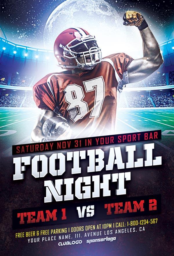 Football Sports Flyer Template - Free PSD Flyer Templates ...